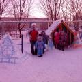 Снежные постройки на нашем участке