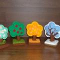 Вязаные деревья «Времена года»