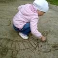 Изобразительная деятельность дошкольников. Рисунки на песке