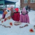 «Зимняя сказка». Участие в конкурсе снежных построек