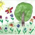 Выставка детских рисунков на тему «Воспоминания о лете».