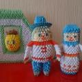 Настольный театр по русским народным сказкам «Колобок» и «Теремок» в технике модульного оригами