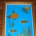 Поделка из листьев «Рыбки в аквариуме»
