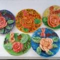 Розы для мамы (поделки из солёного теста)
