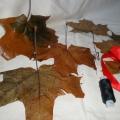 Мастер-класс. Поделка из осенних листьев. «Букет для мамы»