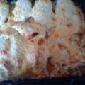 Фаршированный кальмар, запеченный с майонезом и сыром