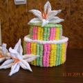 Тортики из гофротрубочек