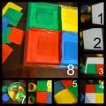 «Разложи по цвету». Дидактическая игра для детей младшей группы