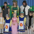 Спектакль «Гуси–Лебеди» силами детей и родителей средней группы