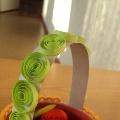 «Корзинка с цветами». Квиллинг
