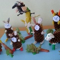 Сказка из шишки: «Заяц-хваста»