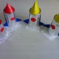Ракеты. Поделки из бросового материала.