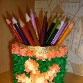 Новая идея подарка к 8 марта, карандашница в технике торцевания