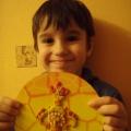 МК «Самовар с чайником и чашками» моего сынули, когда он был маленьким