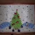 Новогоднее панно из ткани «Волшебная ёлочка»