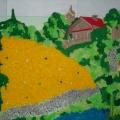 Оформление стен в группе и лестничном пролете.