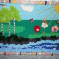 Панно из помпонов «Летняя полянка»