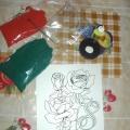 Красные розы из манной крупы в подарок маме. Мастер класс.