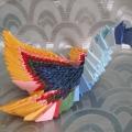 «Жар-птица». Модульное оригами.