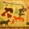 Дикие животные и их детеныши в детском творчестве