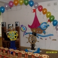 Наше оформление зала к выпускному