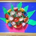 Аппликация из карандашной стружки. Натюрморт «Цветы в вазе»