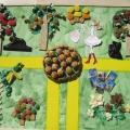 Творческая работа «Сад моей мечты» с использованием кондитерских изделий.