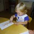 «Листопад». Занятие по нетрадиционному рисованию красками в 1-ой младшей группе