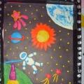 Выставка совместных детско-родительских работ «Разноцветная вселенная»