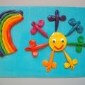 Совместная работа с детьми в технике пластилинографии