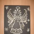 Рождественские ангелы (пластилинография)