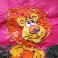Поделка из макарон «Львёнок»