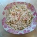 Рисовый салат с огурцами и зеленью. Рецепт
