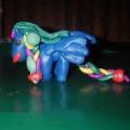 Пластилиновые лошадки.