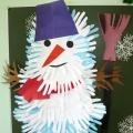 Коллективная поделка «Снеговик»