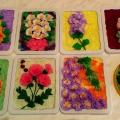 Мастер-класс «Такие разные цветы» (из цветных бумажных салфеток в технике торцевания)