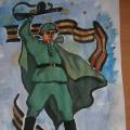 Рисунок, посвящённый празднику «День защитника Отечества»