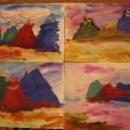 «Лучше гор могут быть только горы»— рисование акварельными и гуашевыми красками в старшей группе