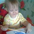 Рисование с грудным ребенком.