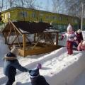 Создание снежных построек на территории ДОУ.