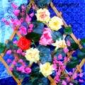 Мастер класс: «Панно цветочная фантазия». Сделано из салфеток и бумаги