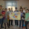 Коллективная работа детей и родителей к 12 апреля