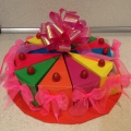 Как сделать торт из картона в детский сад