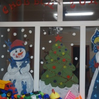 Новогоднее оформление детского сада