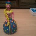 Мастер-класс «Дымковская кукла из пластилина»