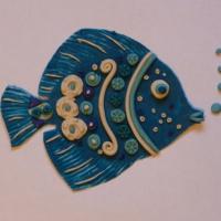 Мастер-класс для родителей «Рыбка» в технике пластилинографии.