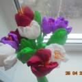 Мастер-класс. Тюльпаны из гофрированной бумаги.