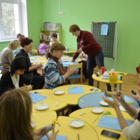 Мастер-класс для педагогов и родителей по нетрадиционной технике рисования «Одуванчик»