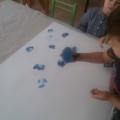 Коллективная работа детей второй младшей группы в технике нетрадиционного рисования «Весна пришла»