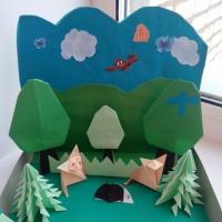 Коллективная работа в техникеоригами «Сказочный лес»